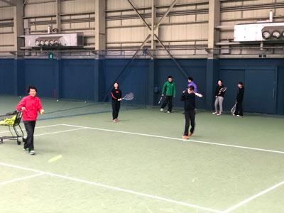 テニス部活動風景